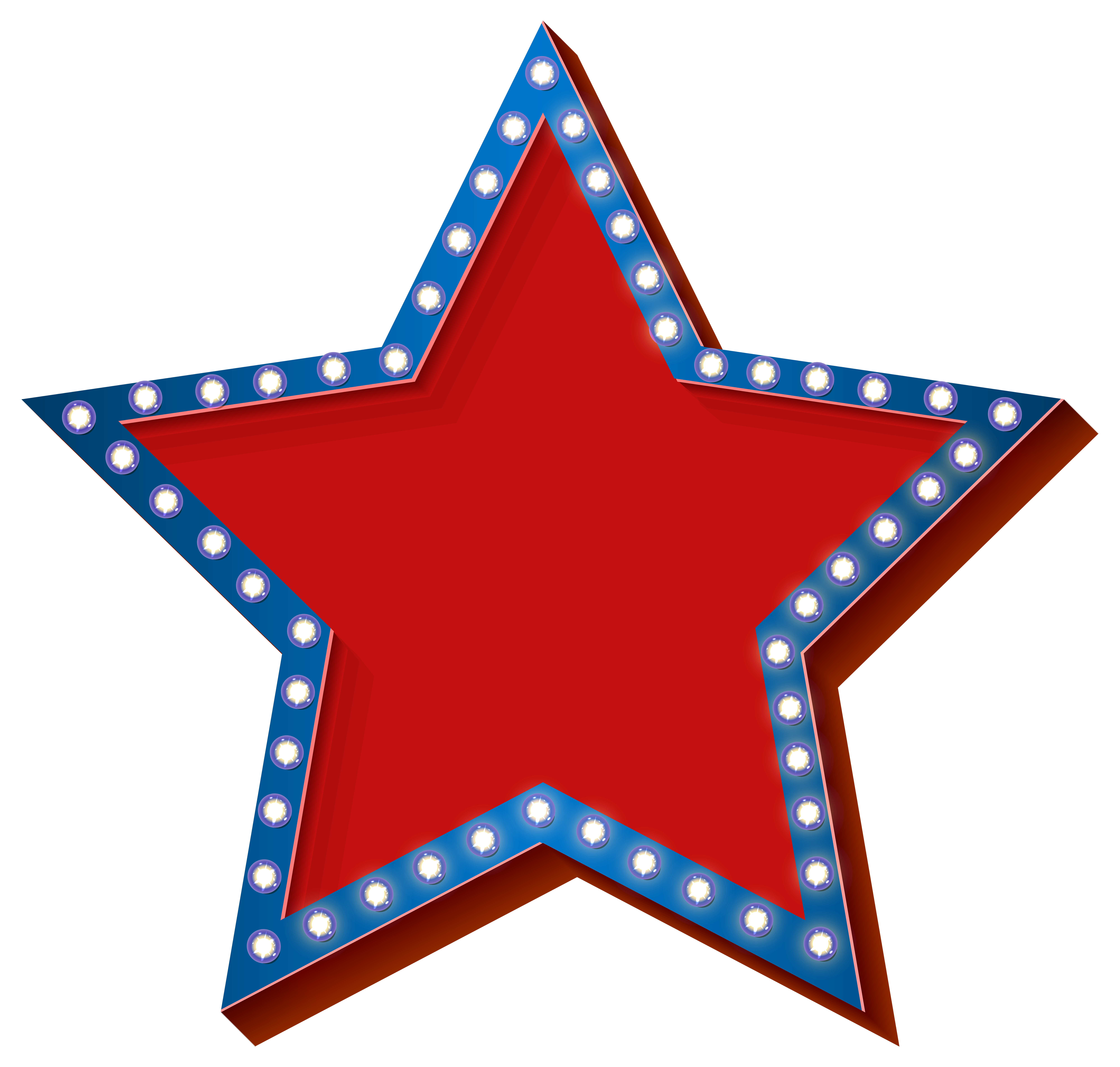 jpg free download Chevron clipart star. With lights transparent png.