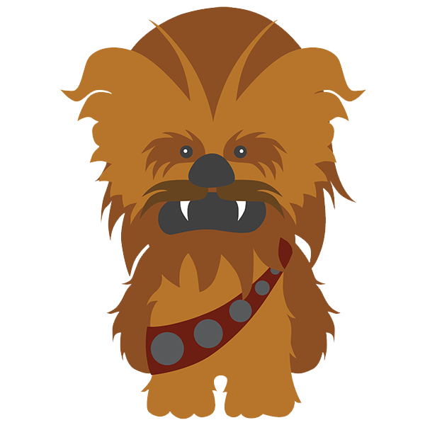 clip free library Chewbacca clipart. Star wars wall stickers.