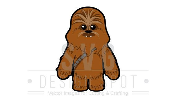 image freeuse Chewbacca clipart baby. Star wars svg cute.