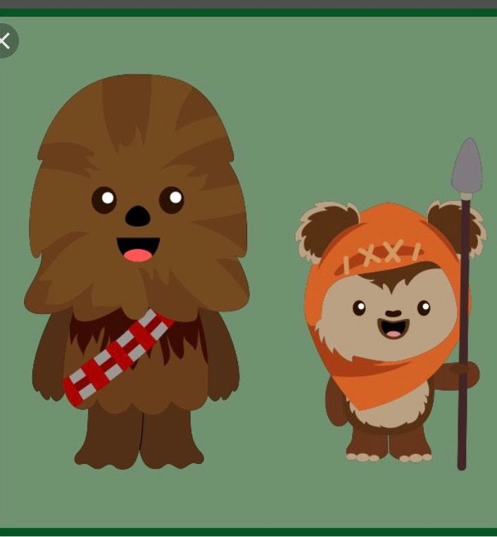 banner library download Chewbacca clipart ewok. Cute and emoji from