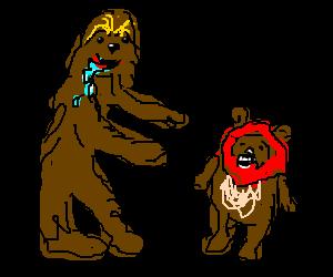 clip art Chewbacca clipart ewok. Eats a jawa hungry.