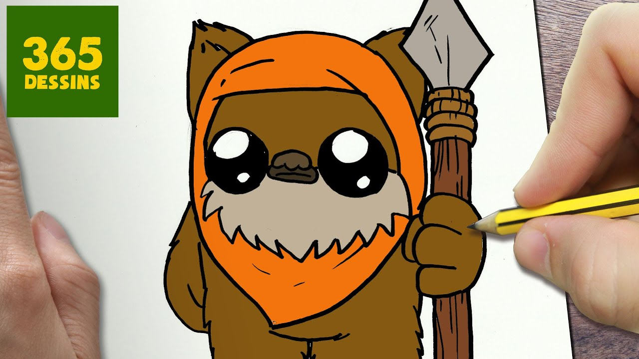 clipart royalty free stock Chewbacca clipart ewok. Comment dessiner kawaii tape