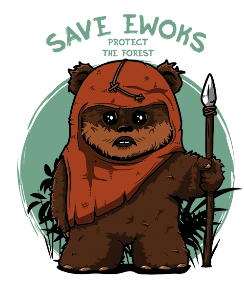 png freeuse Chewbacca clipart ewok. Save ewoks by qwertee