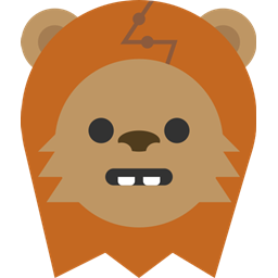 vector royalty free stock Icon size. Chewbacca clipart ewok
