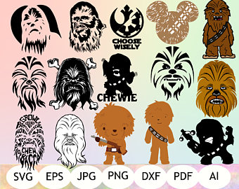 jpg royalty free download Cartoon transparent . Chewbacca clipart printable.