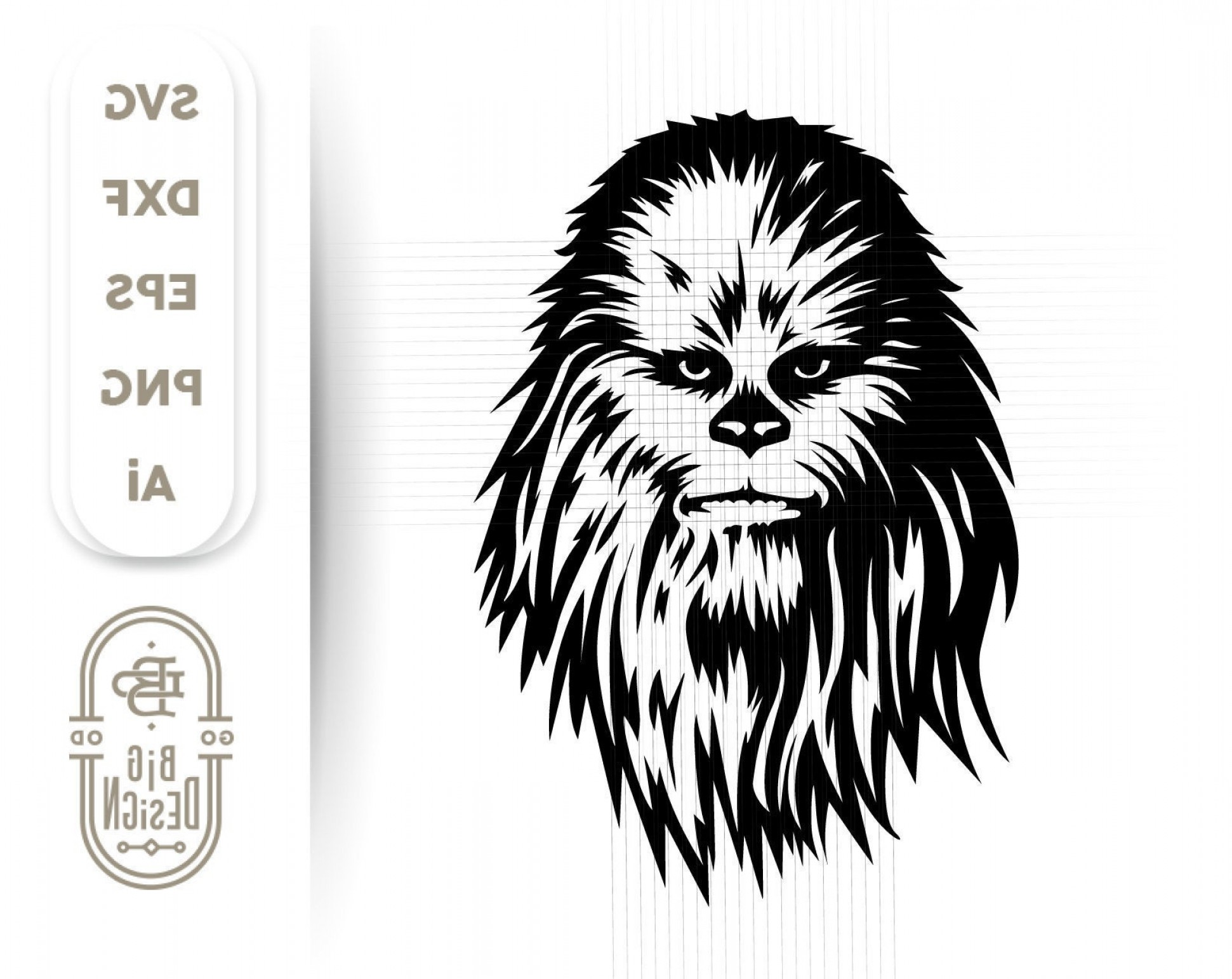 clip art royalty free stock Chewbacca clipart vector. Svg star wars savoyuptown.