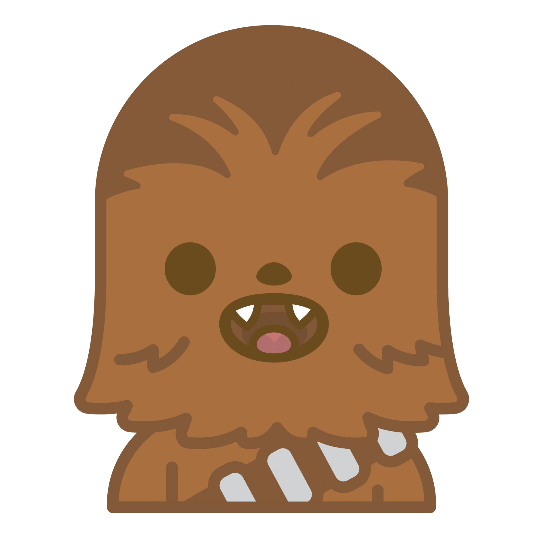 svg freeuse library Star emoji chewbacca . Wars clipart