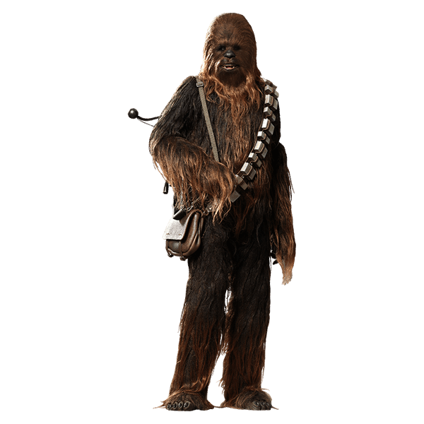 jpg black and white download Chewbacca transparent full size. Star wars scale hot