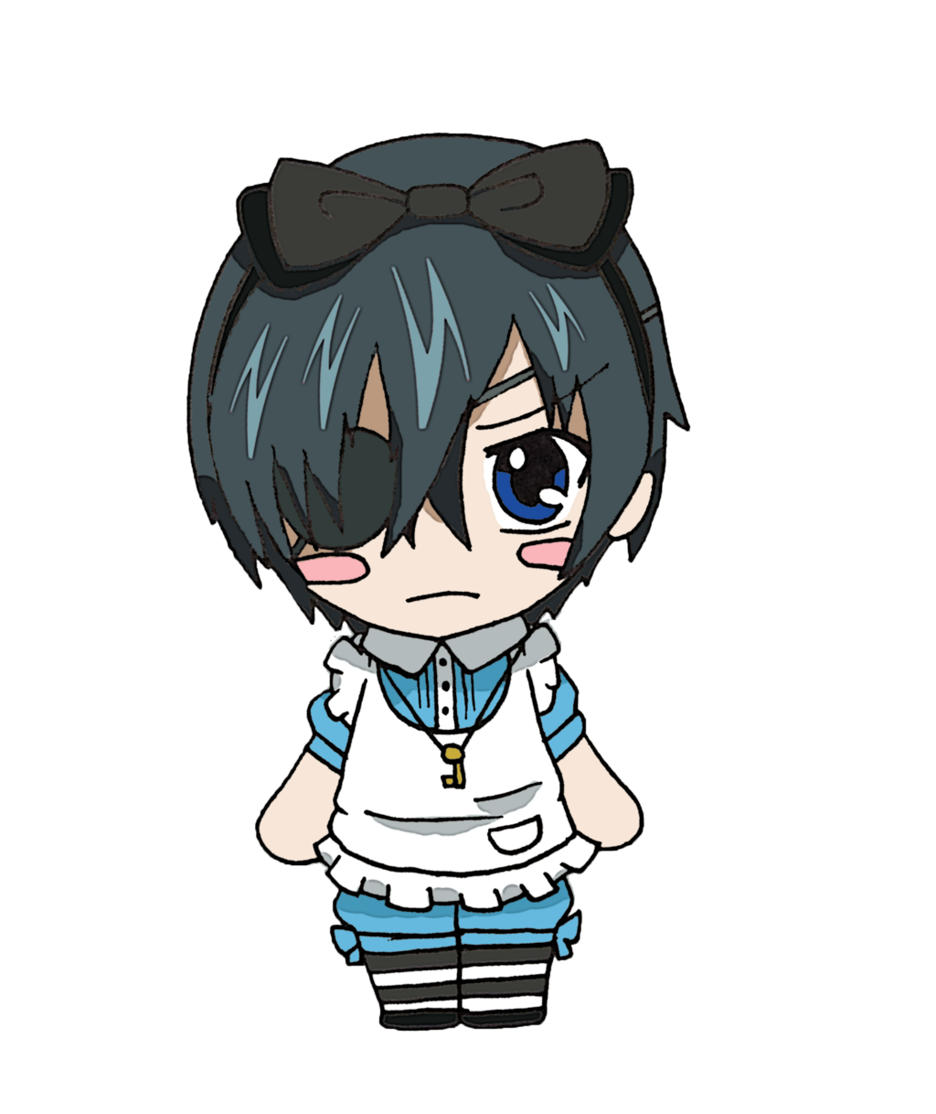 svg freeuse Ciel drawing cute. Black butler by candyaddict.