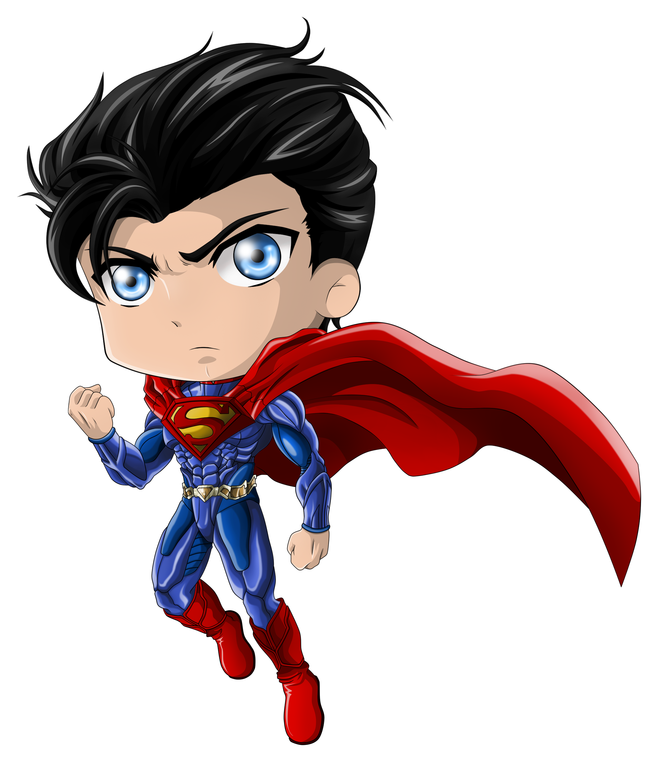 svg black and white download Chibi Superman