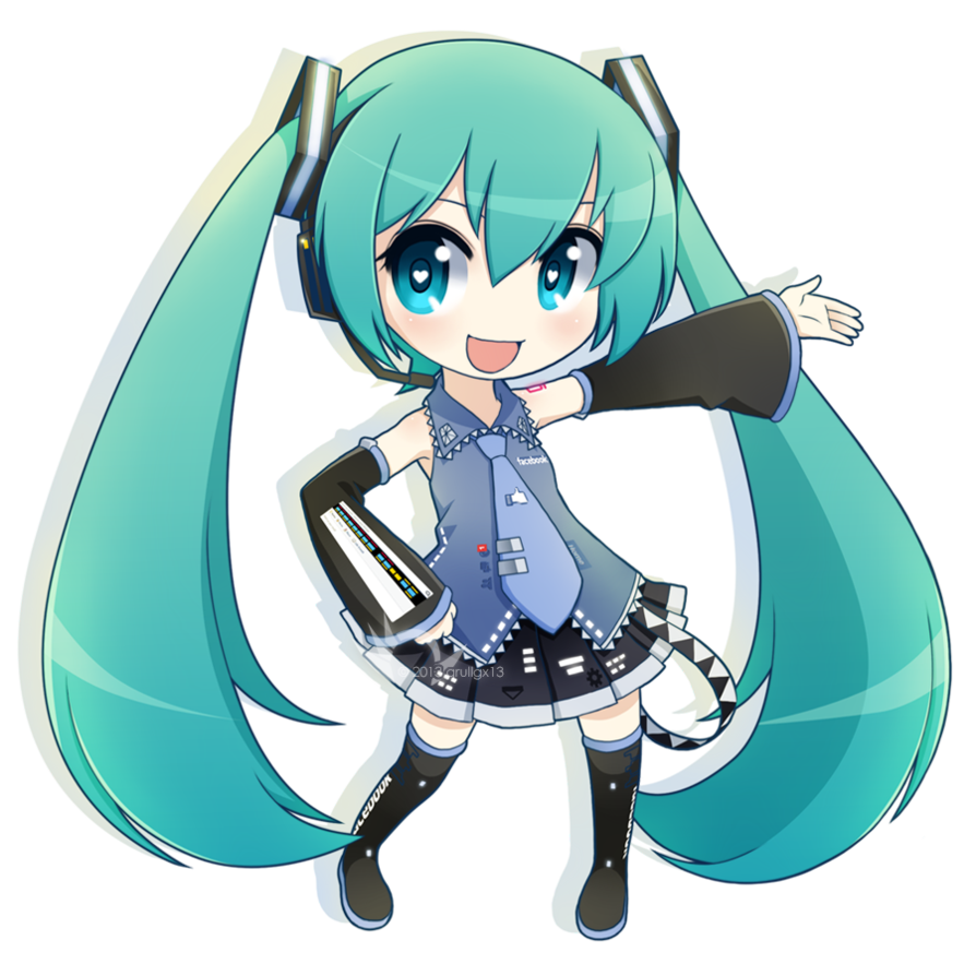 clipart free library Chibi Facebook Miku by qrullgx