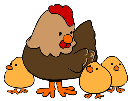 clipart freeuse download Chick clipart two. Cute chicken other s.