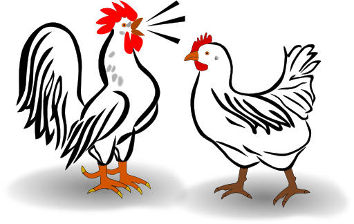 svg free library Cute chicken clip art. Chick clipart two.