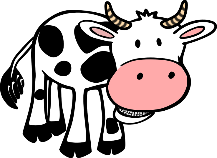 jpg freeuse download La vaquita leche quesos. Chick fil a cow clipart.