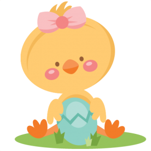clip art royalty free library Girl Chick Holding Egg SVG