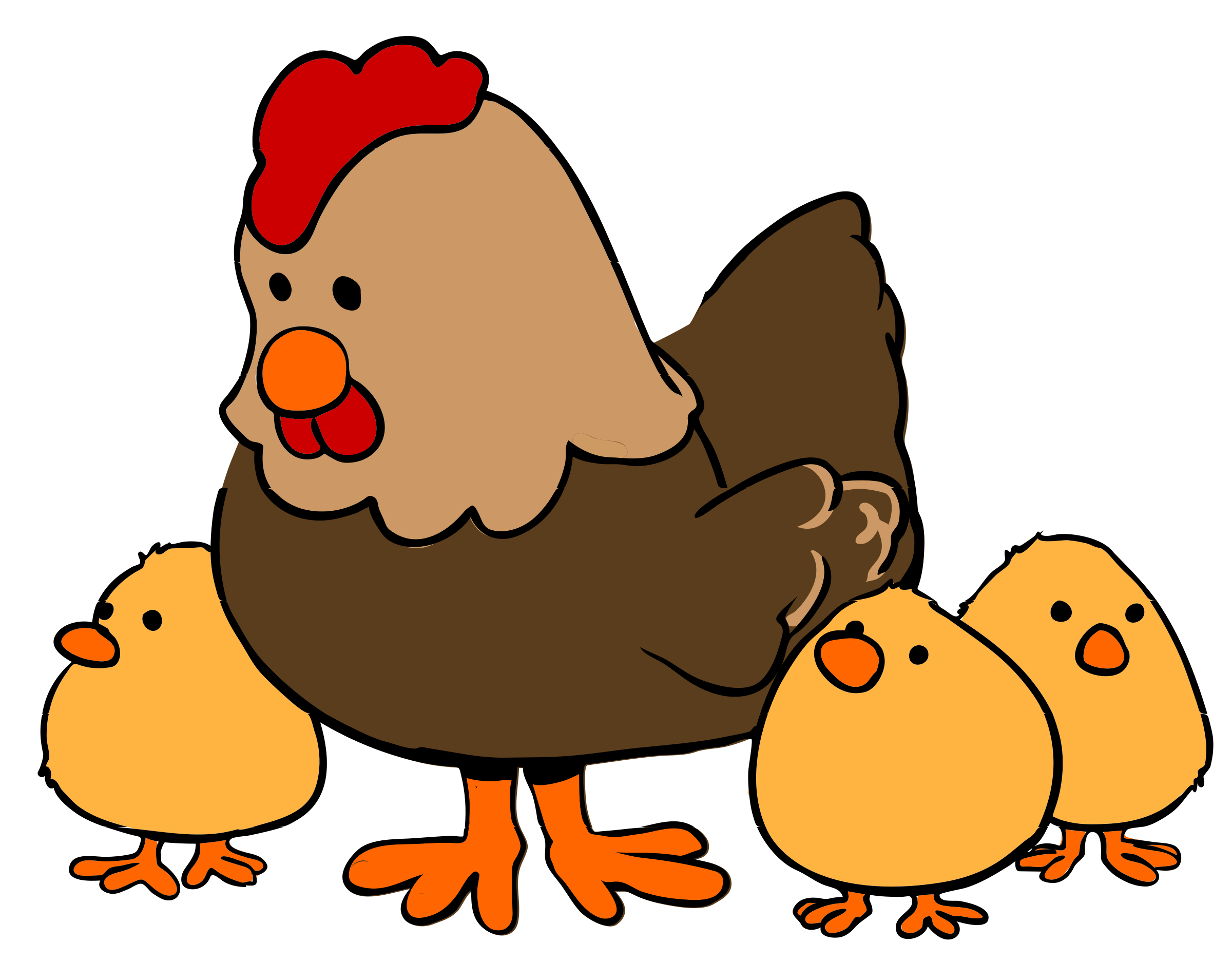 graphic freeuse stock Chickens clipart roasted chicken. Hen and chicks cartoon.