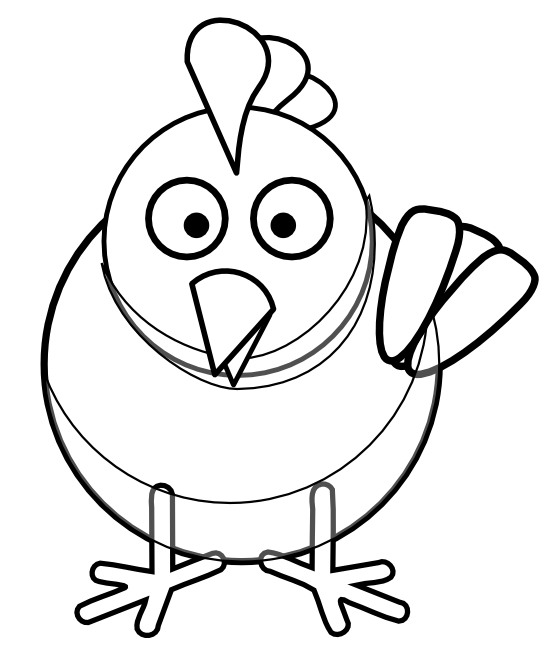 image transparent Panda free images chickenclipartblackandwhite. Chicken clipart black and white