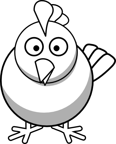 svg freeuse library Leg panda free chickenlegclipartblackandwhite. Black and white chicken clipart