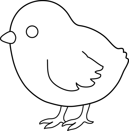 clipart library stock Cute chicken clipart black. Chicks drawing