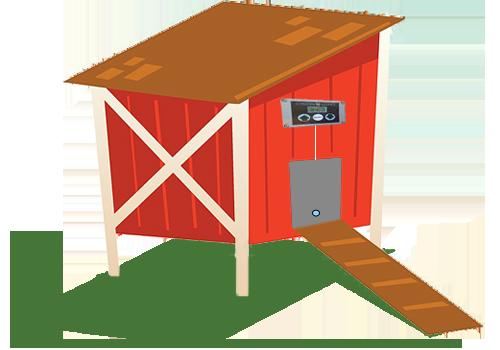 svg download Hen house clipart. A chicken coop design.
