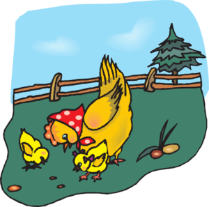 clip art free library Chickens clipart. Eating clip art at