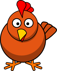 svg black and white Chicken Cartoon Clip Art at Clker