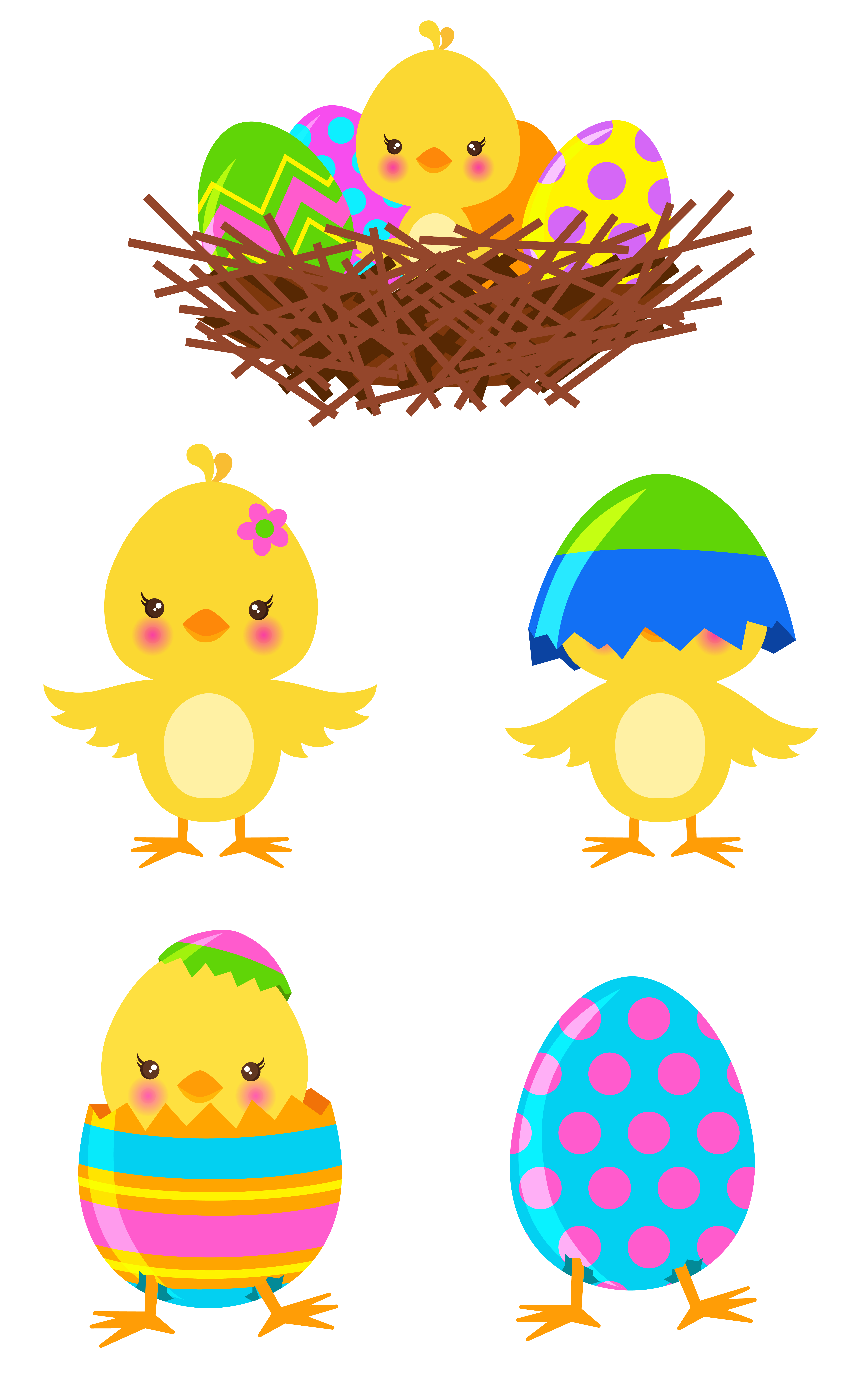png library stock Chickens clipart easter. Chicks set png gto.