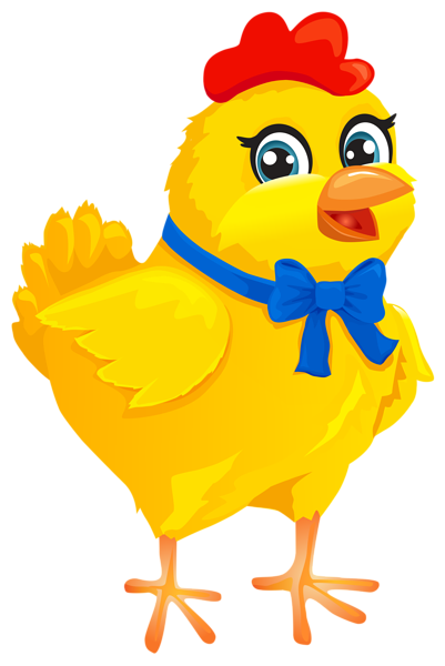 clipart freeuse stock Chicken with bow transparent. Chickens clipart easter.