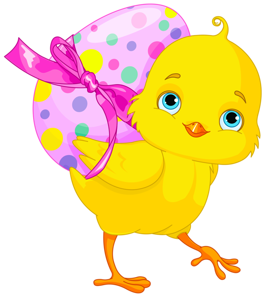 banner library Chicken with pink egg. Chickens clipart easter.