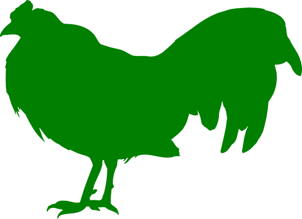 svg transparent library Green chicken clip at. Chickens clipart line art.