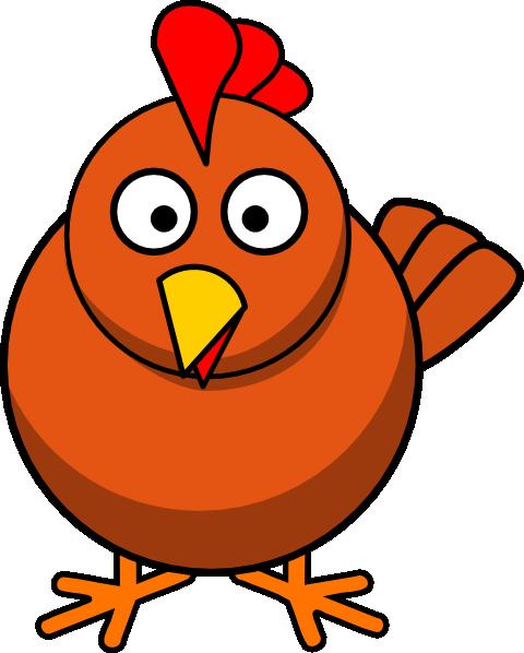 jpg transparent library Chickens clipart monkey. Cartoon clip art chicken.