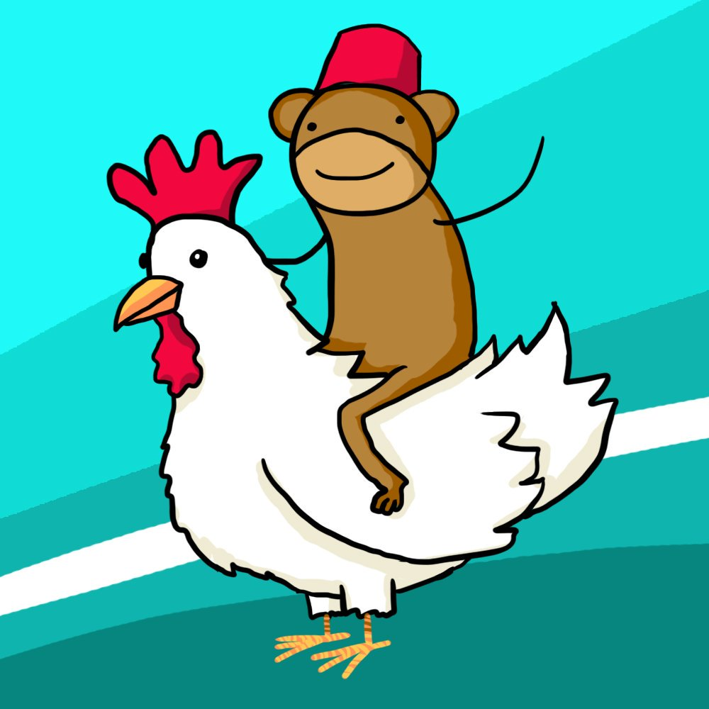 png transparent download Chickens clipart monkey. Transparent free .