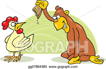 svg library Vector art and chicken. Chickens clipart monkey.