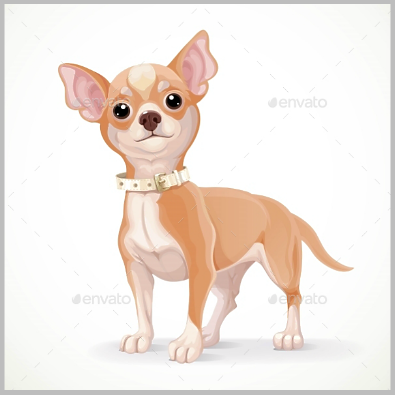 png free Chihuahua clipart. Dog cartoon puppy illustration.
