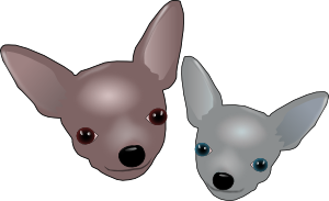 clip art freeuse Chihuahua clipart. Two chihuahuas clip art