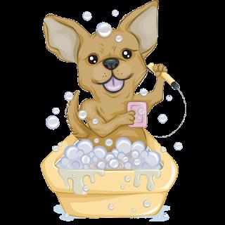 stock Chihuahua clipart angry chihuahua. Dog cartoon images chihuahuawashinginbath.