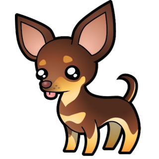 banner library Brown pencil and in. Chihuahua clipart chihuahua puppy.