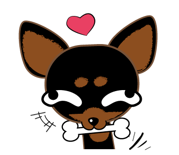 banner library Doad graphic studio on. Chihuahua clipart line.
