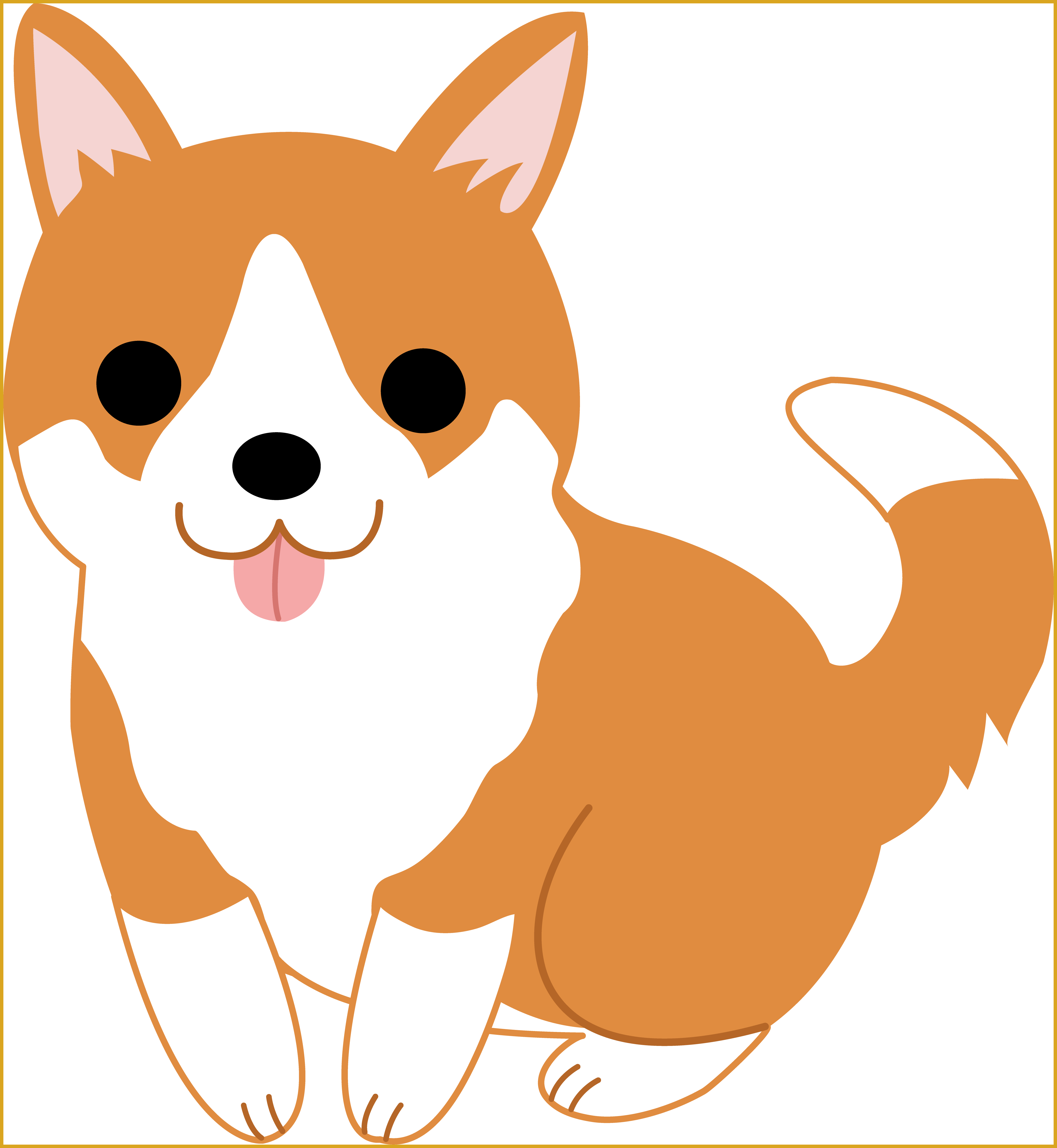 vector royalty free The Best Sad Puppy Face Cartoon Clip Art Image For Dog Black And