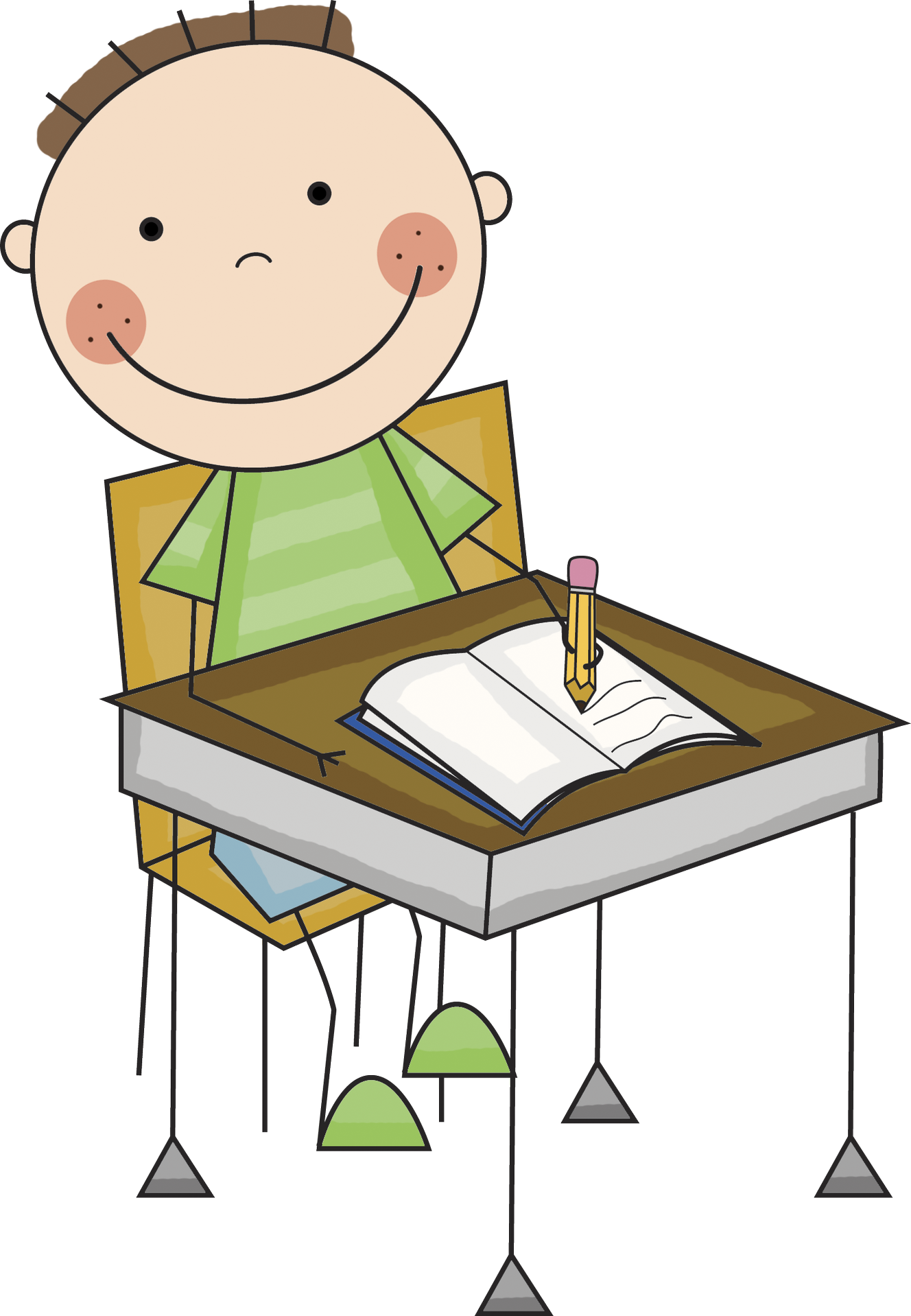 free stock  collection of child. Writer clipart school.