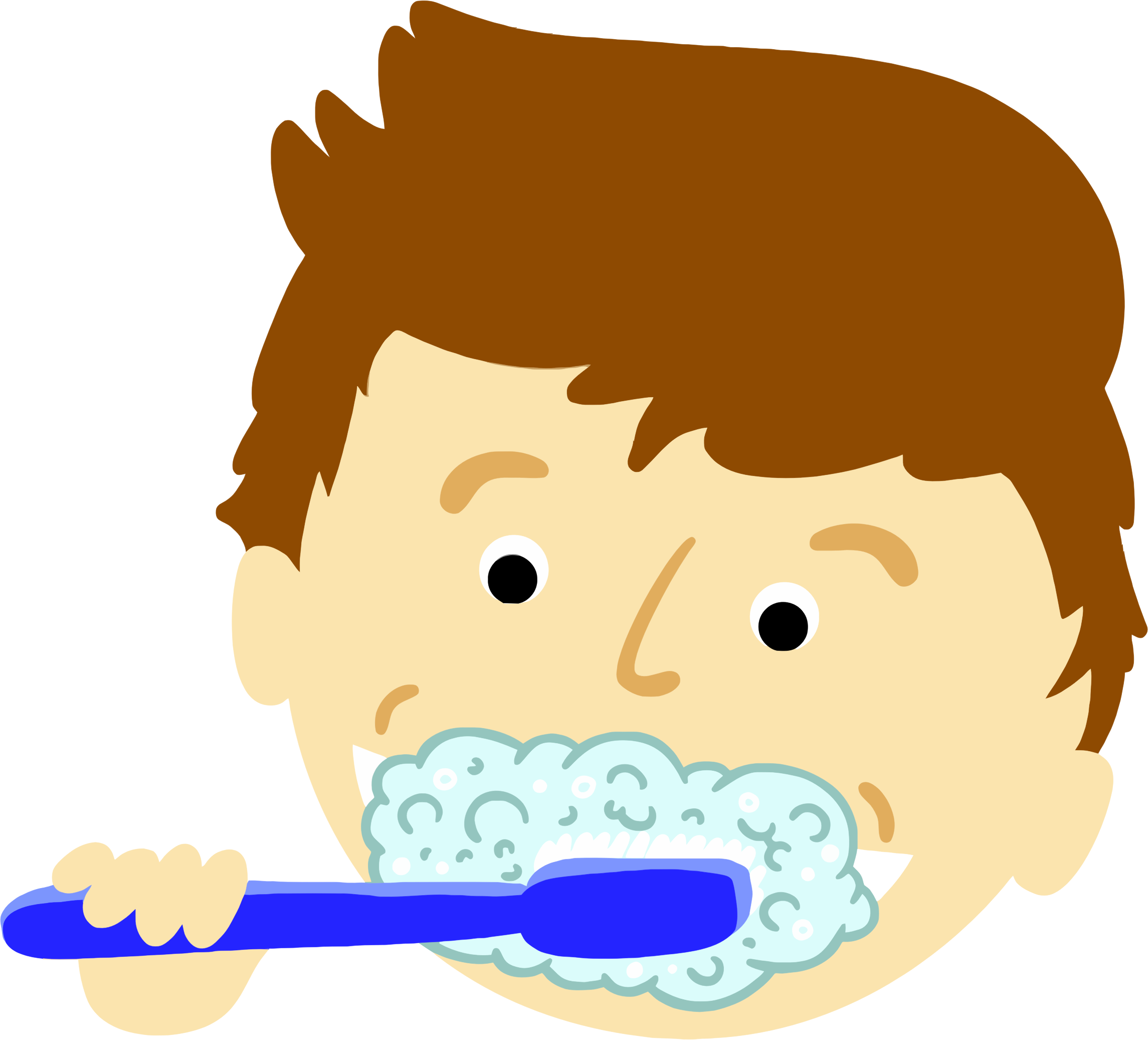 png library download Clipart brushing teeth big. Drawing tooth boy
