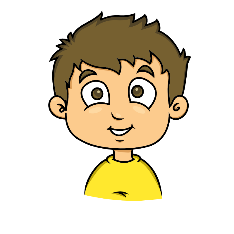 vector library Child clipart. Smiling face of a
