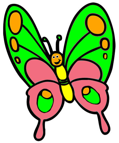 clip royalty free Child clipart butterfly. Kids png cute .