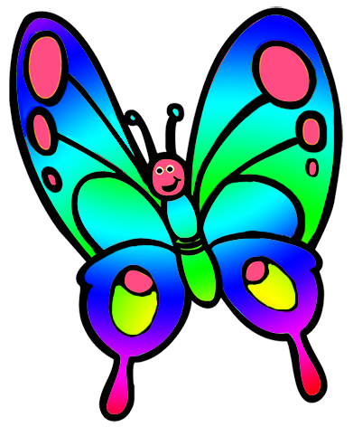 banner transparent download Cute for kids. Child clipart butterfly.