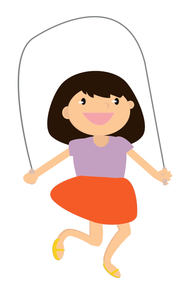 graphic library Child clipart jumping rope. Onlinelabels clip art girl.