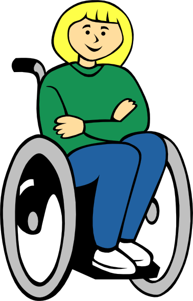 jpg black and white library Girl clip art at. Kid in wheelchair clipart