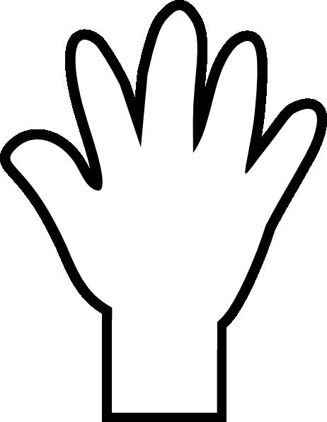 vector library Black clip large. Hand print art at