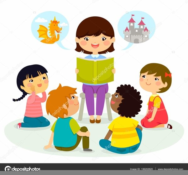 svg royalty free stock Kids listening clipart. Children to a story
