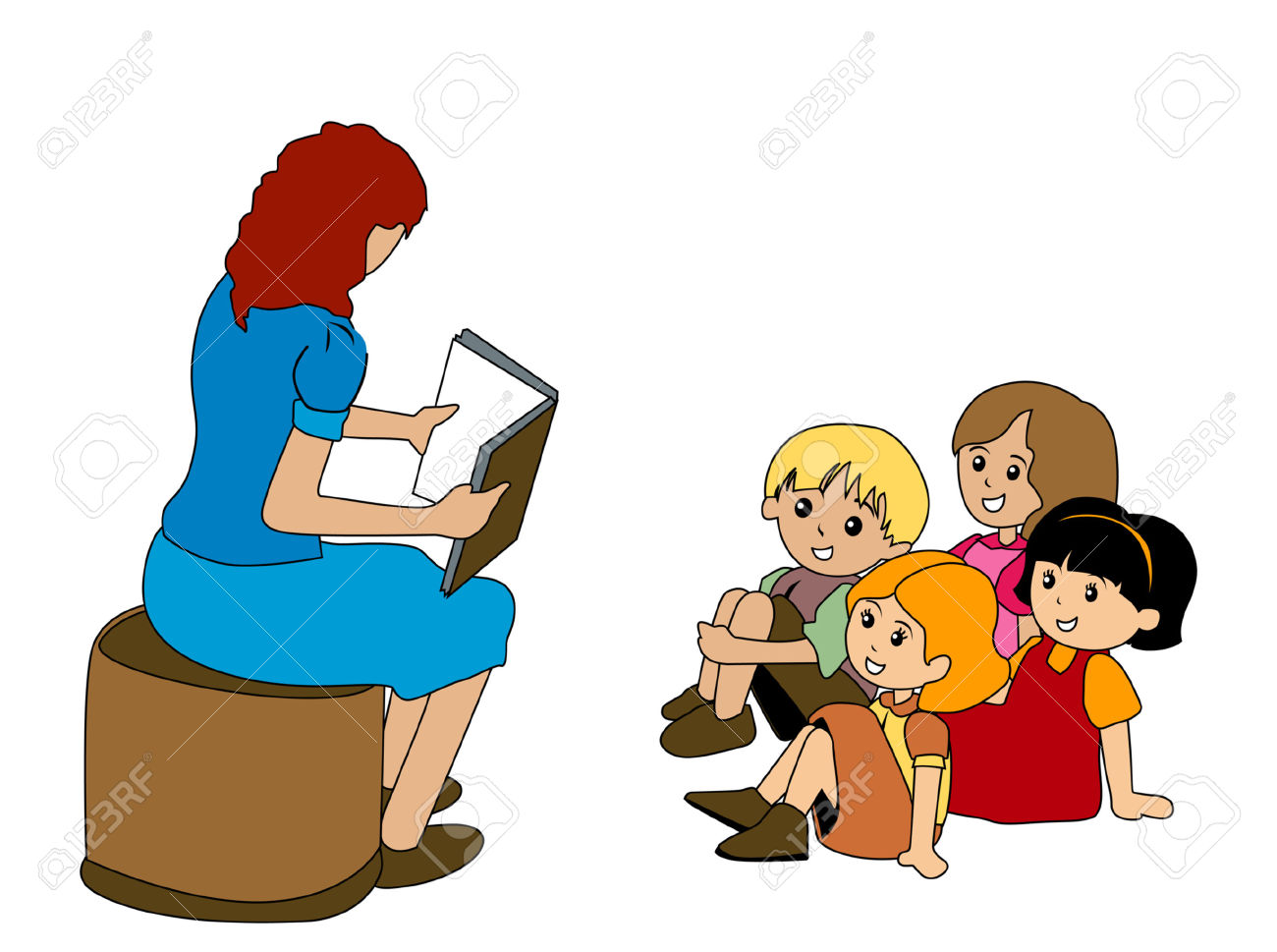 png black and white library Free download best . Kids listening to teacher clipart