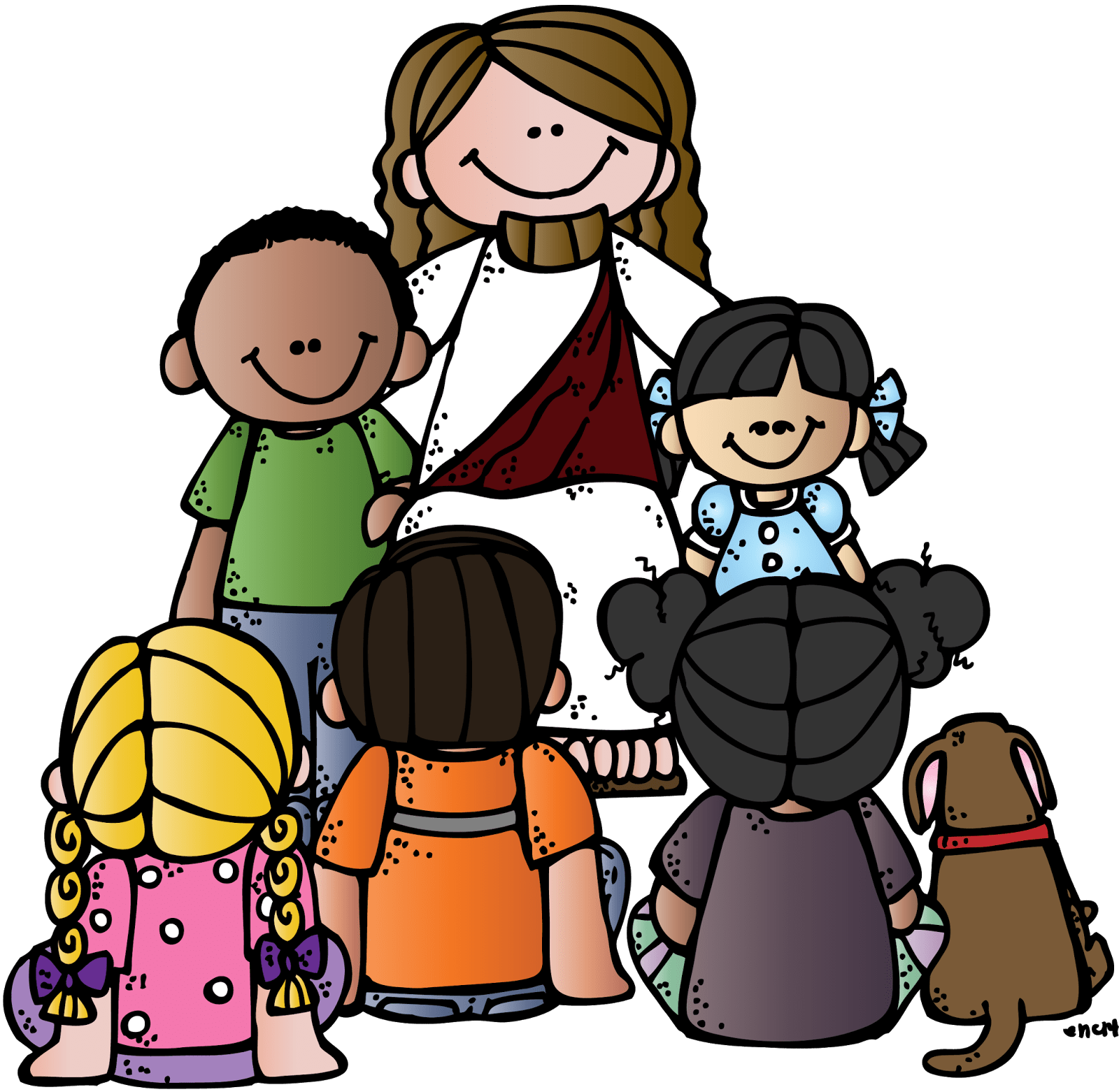 svg library library Jesus With Children Clipart at GetDrawings